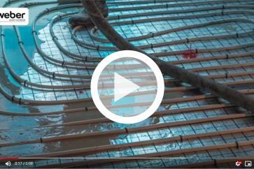 Płynny jastrych na ogrzewanie podłogowe: weber.floor RMX FLOW zbrojony włóknami - WEBER