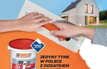 FOVEO - Jedyny tynk w Polsce z dodatkiem TEFLON SURFACE PROTECTOR